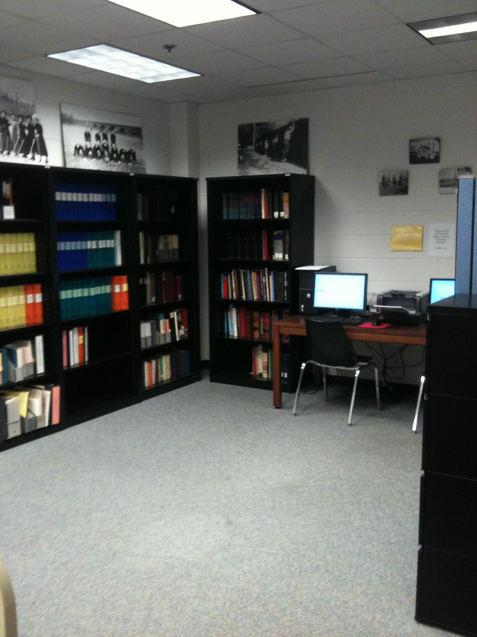 The research room in the Government Services Center