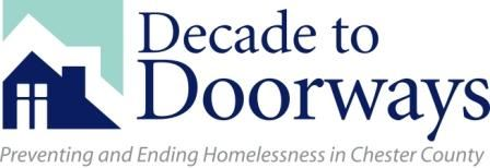 A logo for the Decade to Doorways program