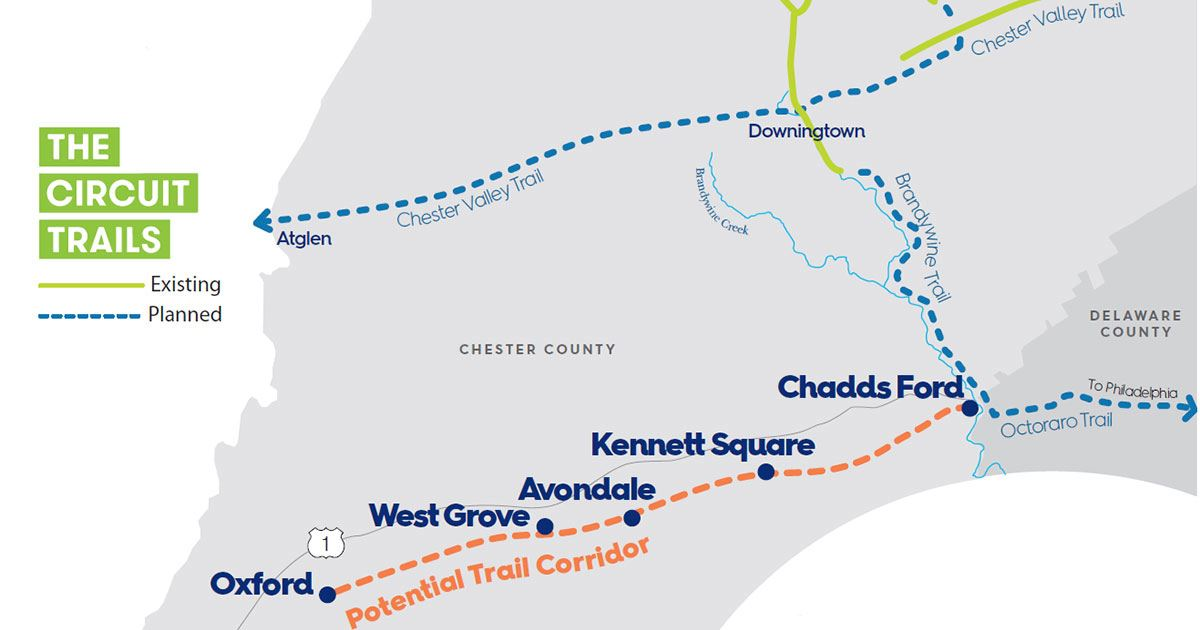Southern Chester County Trail proposed network